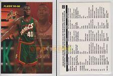 NBA FLEER 1995-1996 SERIES 2 - Shawn Kemp, Sonics # 415 - Near Mint