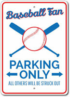 Baseball Fan Parking Sign, Baseball Fan Gift, Baseball Sign ENSA1010027