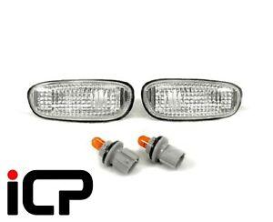 ICP Clear Side Repeaters Indicators & Bulb Holders Fits: Subaru Impreza 92-00