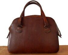 Vintage Antique Brown Leather Doctors Gladstone Bag Briefcase Prop