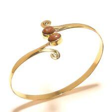 Sunstone Tibetan Silver Brass Cuff Bangel Bracelet Gemstone Jewelry