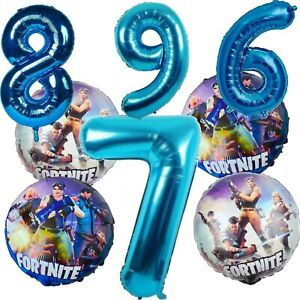 Fortnite Gaming Avengers End Game Large Number Age Helium Birthday Balloons