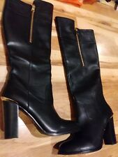 Aldo Womens Tall Black Boots Sz 40/9.5-10 US Sz~Gorgeous!