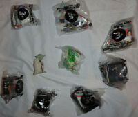 9 STAR WARS McDonalds Figure Lot: Yoda, R2D2 1990's McDonald's