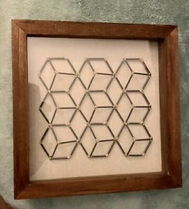 Cubed Wire Modern Framed Wall Art