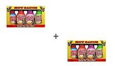 2 Jeux de 4 mini très hot sauce Bouteilles fesses Kickin Assortiment saveur Gift Pack