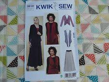 KWIK SEW 3819 misses vest Jacket skirt stretch knit Sewing Pattern  XS-S-M-L-XL