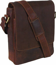 UNICORN Bolsa de cuero genuino - iPad, Tablet accesorios Bolsa - Tan Marrón #7F