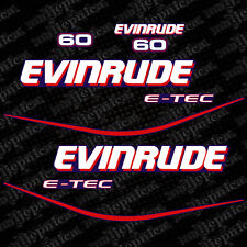 Evinrude 60 blue model outboard (1999-2004) decal aufkleber adesivo sticker set