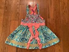 MATILDA  JANE Girls SZ 4 Floral & Polka Dot Knot Long Top w/ Ruffles