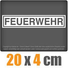 Feuerwehr 20 x 4 cm JDM Decal Sticker Aufkleber Racing Die Cut