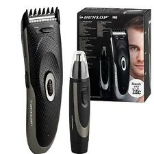 Dunlop Pro 2 in 1 Mens Rechargeable Beard Grooming kit + Nose Trimmer Cordless