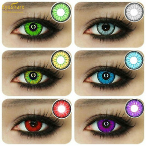 1Pair ( 2 ) Multicolor Contact for Eye Unisex Big Eye Charming Makeup Beauty
