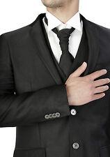 Traje De Novio Hombre Diamond Class Negro Sartorial Cool Lana 100% Made IN Italy