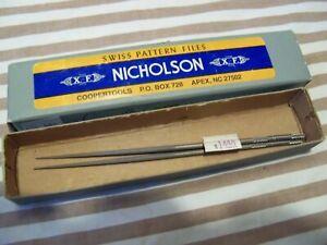 """NICHOLSON File 5.5"""" 37416  XF RHN Round 0 Cut Swiss Pattern USA"""