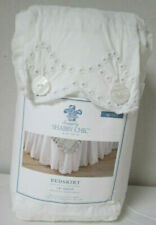 """SIMPLY SHABBY CHIC White Eyelet Scallop Queen Ruffled Bedskirt w/15"""" drop NIP"""