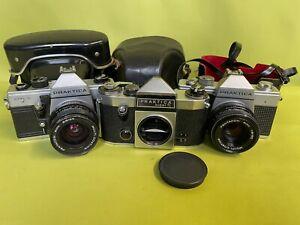 3 Kameras Praktica MTL3 MTL5 und TL super mit Pentacon 1.8/50 und 2.8/29