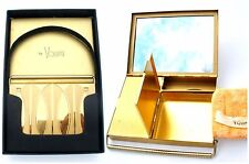 Vintage Volupte Compact Carryall Purse Vanity Mirror Powder Black Original Box