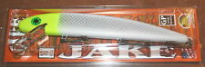 "10"" Jake Musky Mania Muskie Pike Crankbait Lemon head White Chart J10-46 Lure"