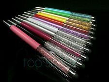 11 COLORS Crystal 2 in 1 STYLUS CHARM BALLPOINT PEN SWARROVSKI ELEMENTS+Pouch