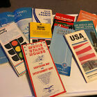 Bundle Of Vintage Early 80's USA Road Maps California And Florida