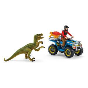 Schleich Quad Escape from Velociraptor Set Dinosaurs Figure Plastic 41466 Age 5+
