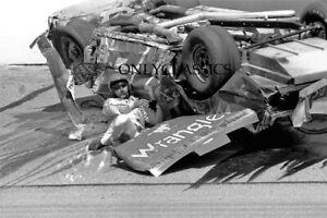 1982 DALE EARNHARDT NASCAR CHAMPION STOCK CAR AUTO RACING WRECK FLIP 8X12 PHOTO