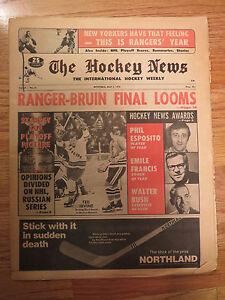 The HOCKEY NEWS March 5, 1971 Newspaper PHIL ESPOSITO 50-Goal Club BOSTON BRUINS