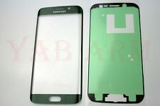 Samsung Galaxy S6 Edge Green Front Glass Lens Screen Replacement with Adhesive