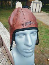 Green Bay Blizzard Football Oneida Casino faux ? Leather insulated helmet