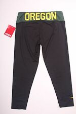 NWT Womens OREGON DUCKS black/green waistband logo yoga pants crop leggings M