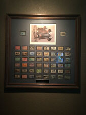 Golden 50th Anniversary Nicely Framed Federal Duck Stamp Collection Phil Scholer
