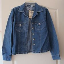 andrews blues blue jean denim jacket coat size M new with tag