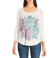 LUCKY BRAND NEW 3/4 Sleeve Graphic Tee Womens Top Size L