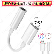 3.5mm Jack Audio Cable Adapter for iPhone 11 X max8 7 Plus Earphone Aux Splitter