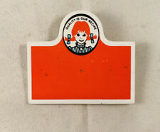 WENDY'S Uniform employee Name badge Tag ** Vintage logo