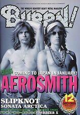 Burrn! Heavy Metal Magazine December 2001 Japan Aerosmith MSG Slipknot Pantera