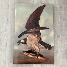 Large Format Tile Bird of Prey with Bass Painting Made in Mexico Pristine