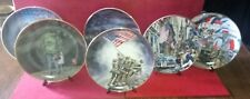 Franklin Mint Veterans Collection Plates set of 6