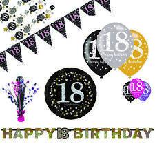 Party Dekoration Deko für den 18. Geburtstag Sparkling Celebrations Glitzer