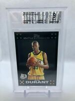 2007-08 Kevin Durant Rookie Topps RC Black Border #112 BGS 9NETSGreat Subs! KD