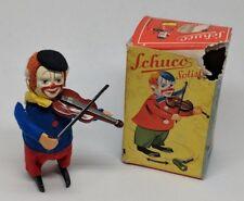 Schuco Solisto Windup Tin Litho Clown Playing Violin in w/ Original Box US Zone
