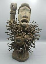 Authentic Bakongo Nkondi Congo Kongo Nkisi African Art Nail Power Fetish Statue