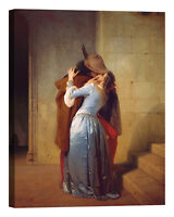 Francesco Hayez The Kiss Stampa su tela Canvas effetto dipinto