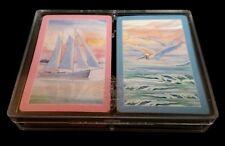 Box 2 Decks Bridge Playing Cards Sailboat Pelican Surf Vitoria Spain Gently Used