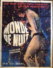 MONDE DE LA NUIT...AFFICHE CINEMA. SUPERBE.