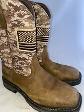 Men preowned Ariat Work soft toe boot size 11ee