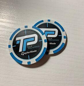2021 TP Tour SIM Replica Heavy Poker Chip Golf Ball Marker (Lot of 2)