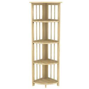"Stony-Edge Corner Folding Bookcase, Easy Assembly Bookshelf. 51"""