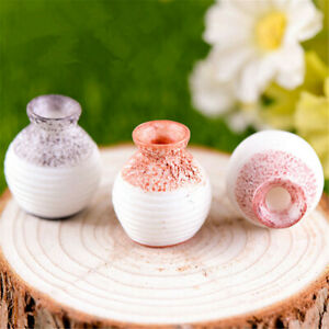 1~5X Home Decor Ceramic Pottery Flower Pot Plant Office Mini Size Vase Ornaments